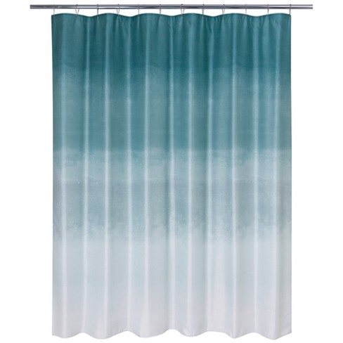 Metallic Ombre Glimmer Shower Curtain Blue Teal