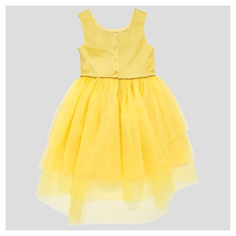 Girls Beauty And The Beast Dress Yellow Target