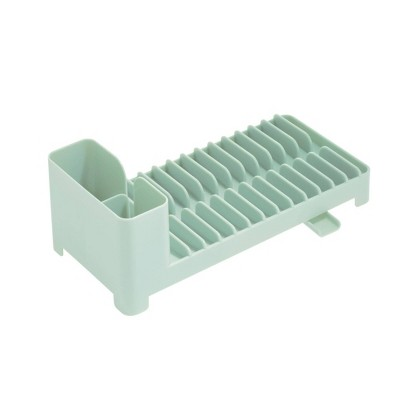 iDESIGN Clarity Compact Dish Drainer with Swivel Spout - Pistachio