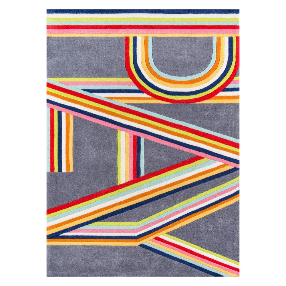 5'X7' Letters Tufted Area Rug Pink - Momeni