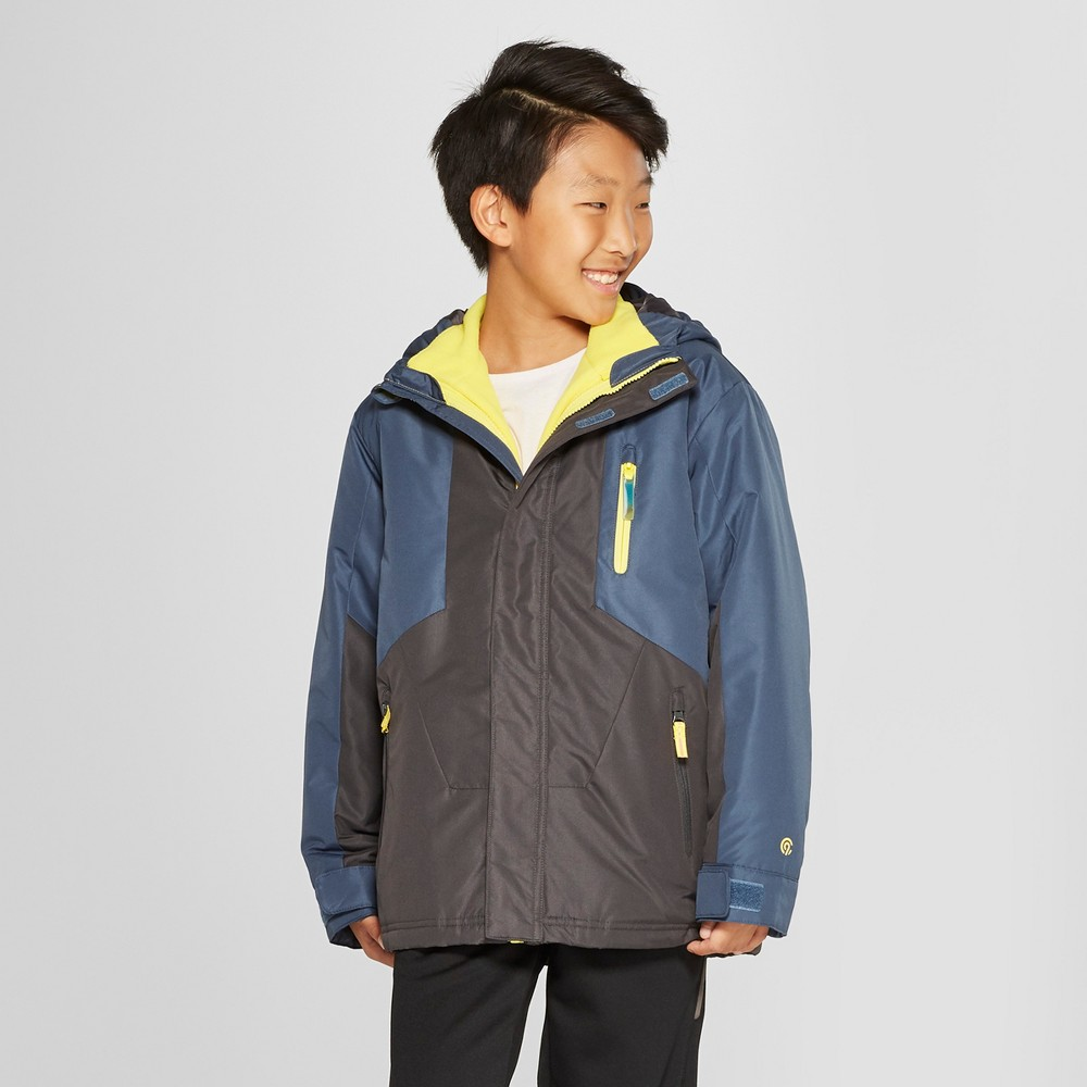 Boys' 3-in-1 Reversible System Jacket - C9 Champion Blue XS