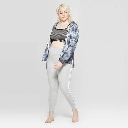 aa3246be1ceb45 Women's Plus Size Side Stripe Leggings Pajama Pants - Colsie™ Gray : Target