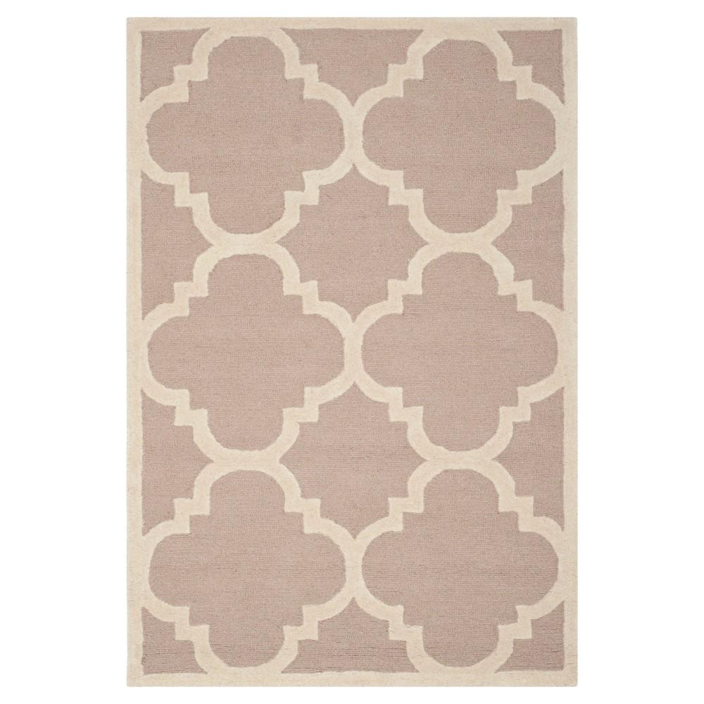Landon Texture Wool Rug - Beige / Ivory (3' X 5') - Safavieh, Beige/Ivory