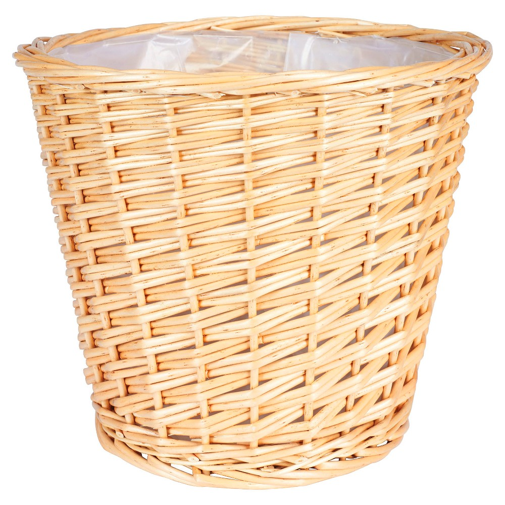 Household Essentials Medium - Willow Waste Basket - Natural, Honey Kissed