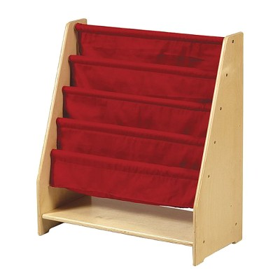 Guidecraft Canvas Single-Sided Book Display Unit - Red
