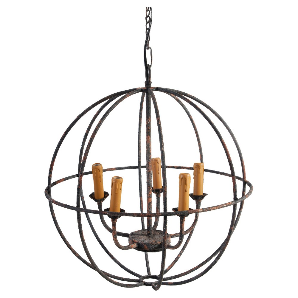 Image of A&b Home Orb Chandelier - Rust (Red)