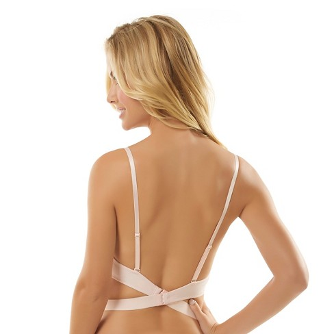 Jezebel Women's EmBra -ce Backless Convertible Extreme Plunge Push-Up Bra - 36C Beige - image 1 of 4