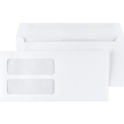 """MyOfficeInnovations Gummed Double-Window 4 3/16"""" x 9"""" Envelopes for Laser Forms We 1000/Bx 381911"""