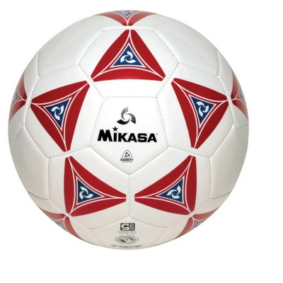 Mikasa No 5 Deluxe Cushioned Soccer Ball, Red/White/Blue