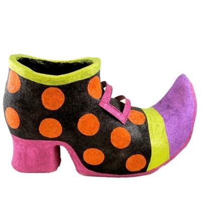 Halloween Witch Polka Dot Shoe Witch  -  Decorative Figurines