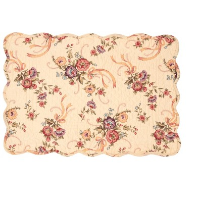 C F Home Alisha Floral Cotton Quilted Rectangular Reversible 13 X 19 Placemat Set Of 6 Target