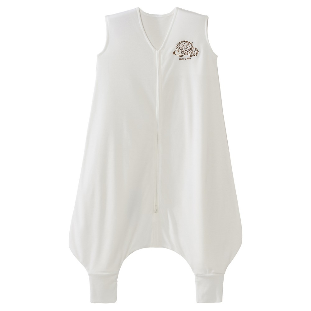 Halo Sleepsack Big Kids 39 Wearable Blanket Light Weight Knit Cream With Hedgehogs Embroidery 2 3t