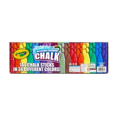 Crayola 144ct Washable Sidewalk Chalk