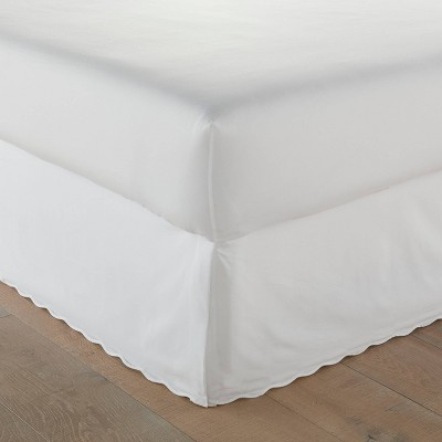 Stone Cottage Solid Scallop Bedskirt White