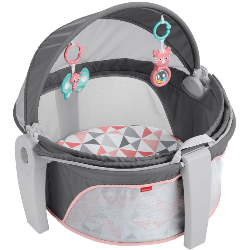 Image of Fisher-Price On-The-Go Girl Baby Dome - Charcoal