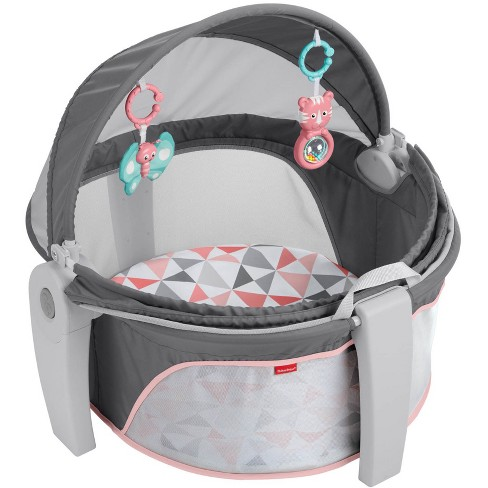 Fisher-Price On-The-Go Girl Baby Dome - Charcoal - image 1 of 11