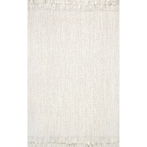 5 X8 Rectangle Indoor And Outdoor Braided Area Rug Off White Nuloom Target