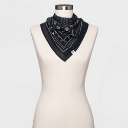 Women's Polka Dot Bandana - Universal Thread™ Black