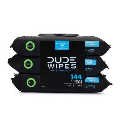 DUDE Fragrance-free Flushable Wipes