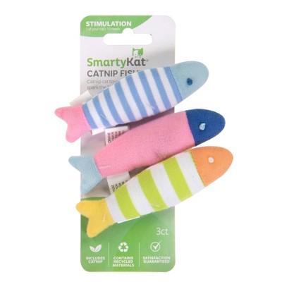 SmartyKat Catnip Fish Cat Toy - 3pk