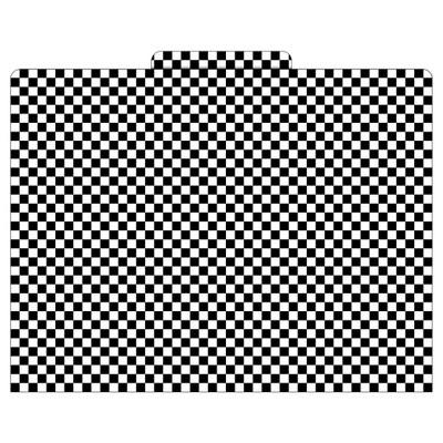 Barker Creek® File Folders, 9.5  x 12 , 12ct - Black Check