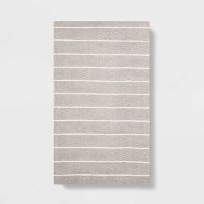 Striped Flat Weave Kitchen Towel Tahoe Khaki - Project 62™