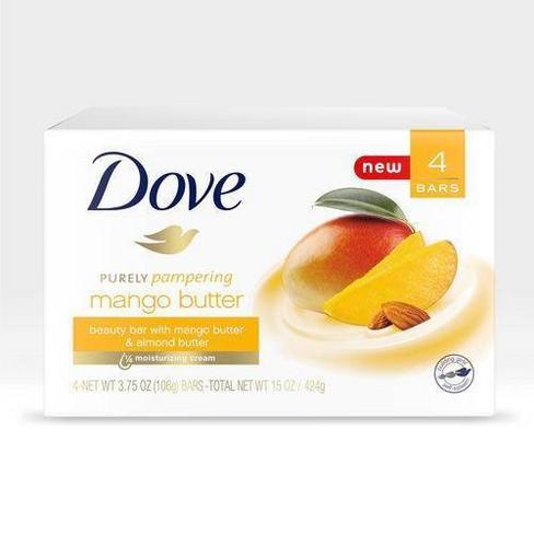 Dove Mango Almond Butter Beauty Bar Soap 3 75oz 4ct Target