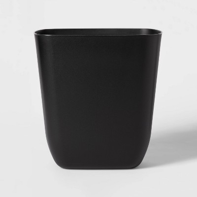 3gal Open Vanity Trash Can Black - Room Essentials™