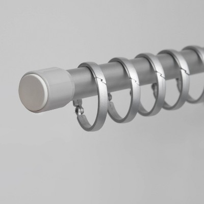 Aluminum Shower Rod and Ring Bundle - Made By Design™