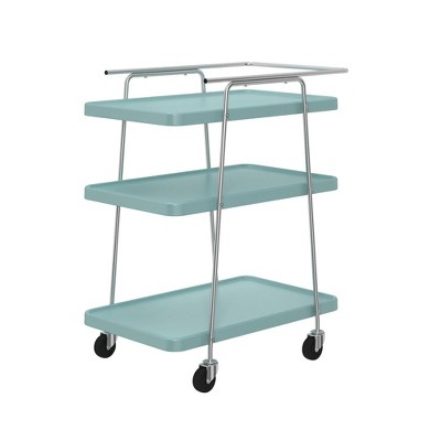 Cosco Stylaire 3 Tier Serving Cart Teal/Silver