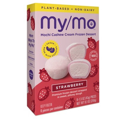 My/Mo Mochi Non Dairy Frozen Dessert Strawberry - 6ct