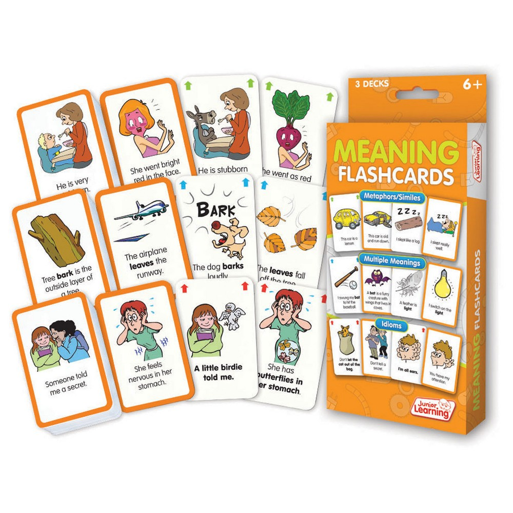 Junior Learning Meaning Flashcards - Idioms, Multiple Meanings & Similes