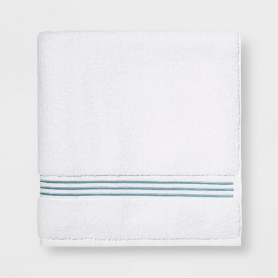 Spa Bath Sheet Aqua Stripe - Threshold Signature™