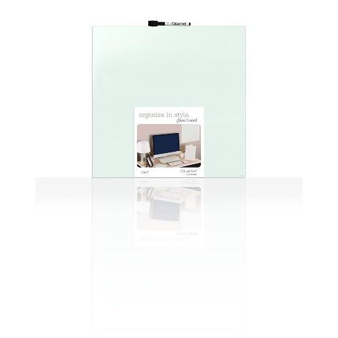 """Quartet 17"""" x 17"""" Glass Dry-Erase Board Frameless - White - image 1 of 3"""