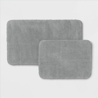 2pk Performance Bath Rug Set Gray - Threshold™