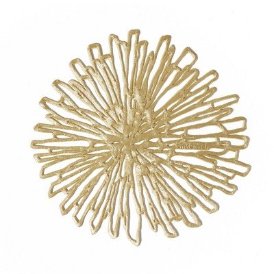 6pk Bloom Pressed Gilded Coasters - Chilewich