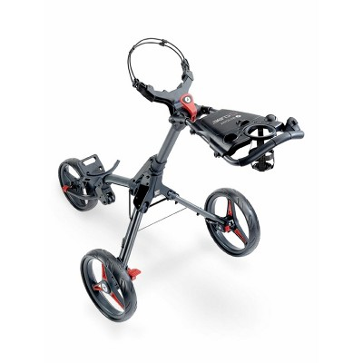 Motocaddy Cube Foldable and Adjustable Lightweight 3 Wheel Golf Buggy Pushcart with Built in Cup and Scorecard Holder and Parking Brake
