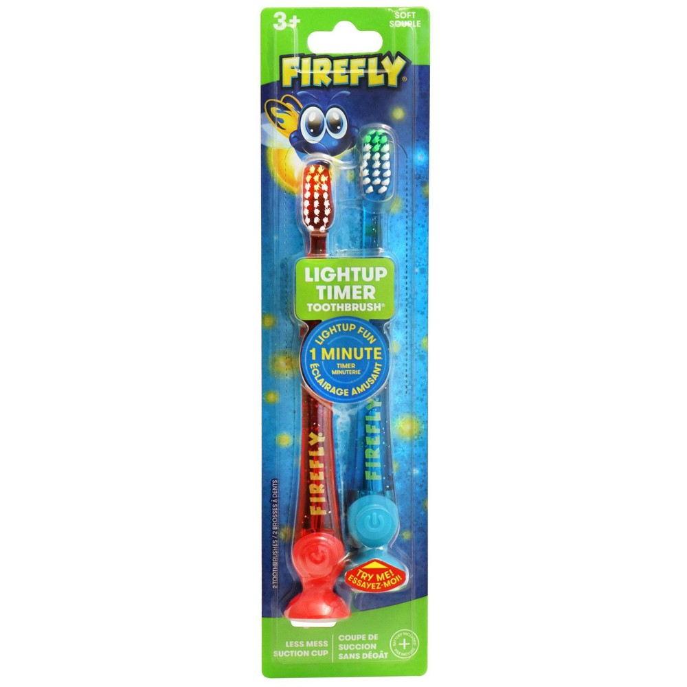 Image of Firefly Lightup Timer Toothbrushes 2-pk (Soft)
