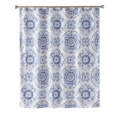 Kali Shower Curtain Blue - Saturday Knight Ltd.