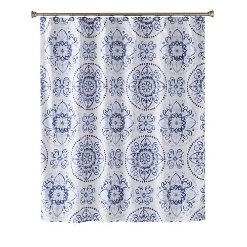 Kali Shower Curtain Blue