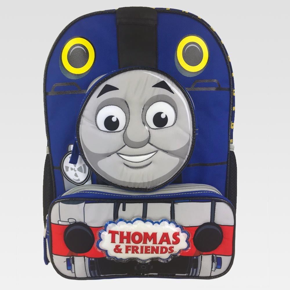 """Image of """"Thomas & Friends 14"""""""" Quilted Mini Kids' Backpack - Blue, Kids Unisex, Black"""""""