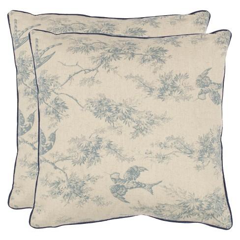 Birds and Trees Toss Throw Pillow - Safavieh® - image 1 of 2