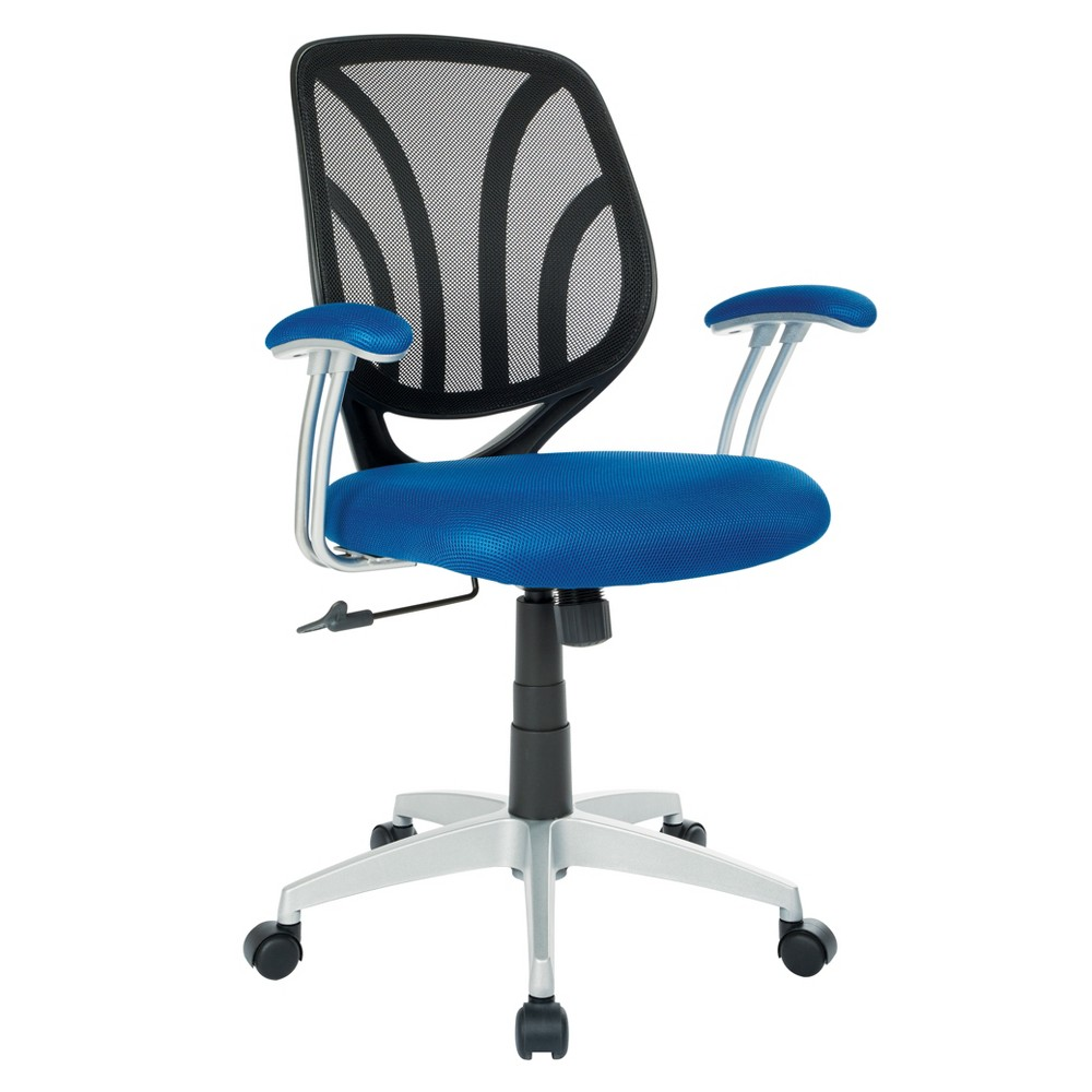Screen Back Chair with Base Navy (Blue) - Osp Home Furnishings