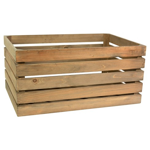 Wood Rectangular Milk Crate Threshold