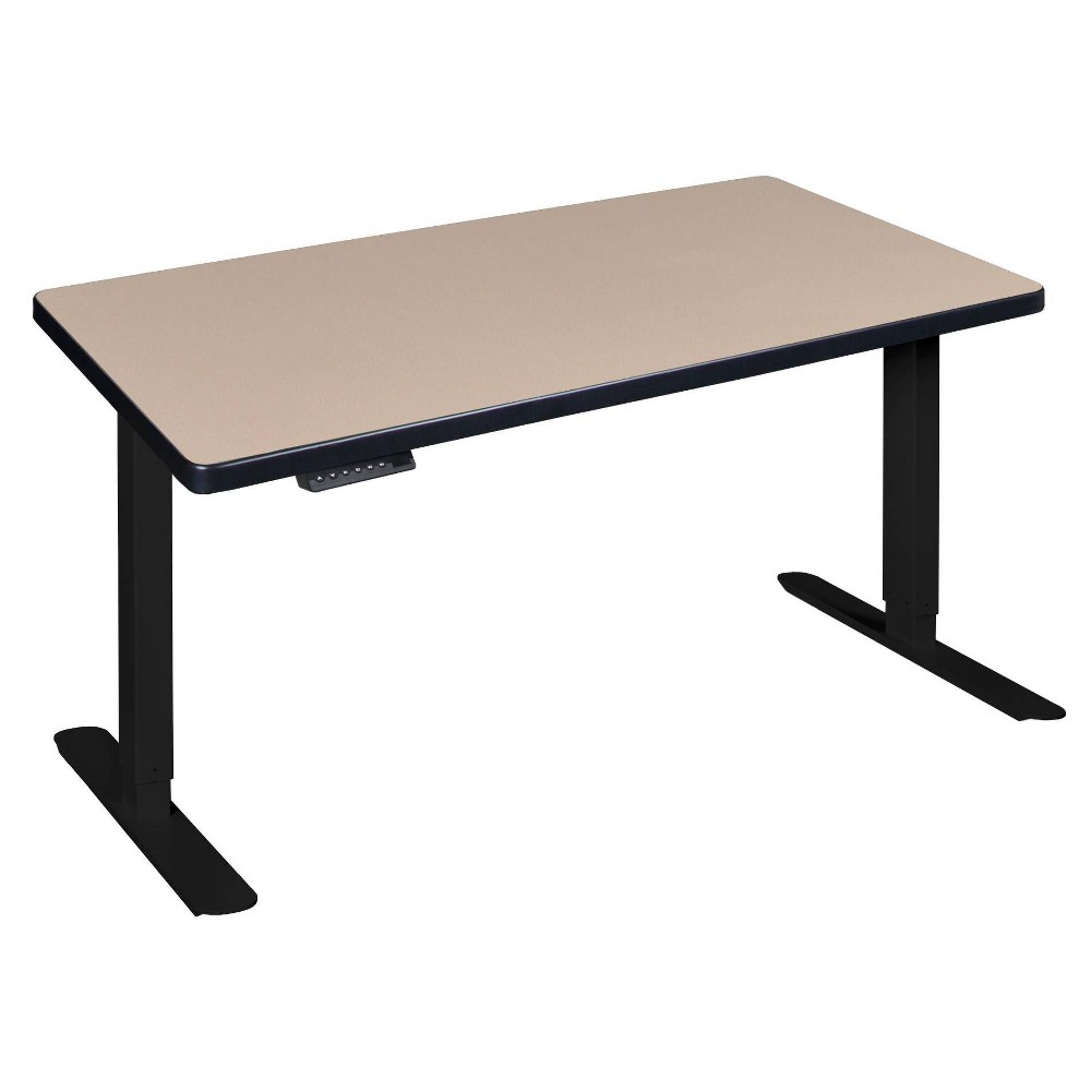 """Image of """"48"""""""" X 24"""""""" Esteem Height Adjustable Power Desk Beige - Regency"""""""