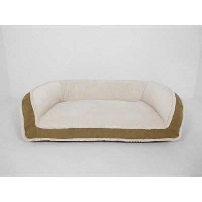 Arlee Home Fashions Deep Seated Lounger Sofa and Couch Style Driftwood Dog Bed - 40x25
