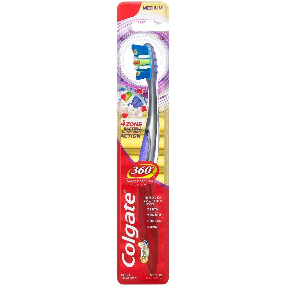 Image of Colgate 360 Advanced 4 Zone Toothbrush Medium - 1ct