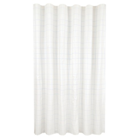 Core Grid Shower Curtain Blue/White - Room Essentials™ - image 1 of 1