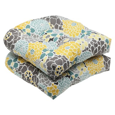 Pillow Perfect™ 2-Piece Outdoor Wicker Seat Cushions - Lois