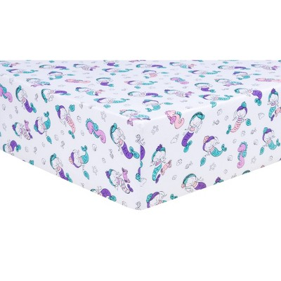 Trend Lab Fitted Crib Sheet - Mermaids